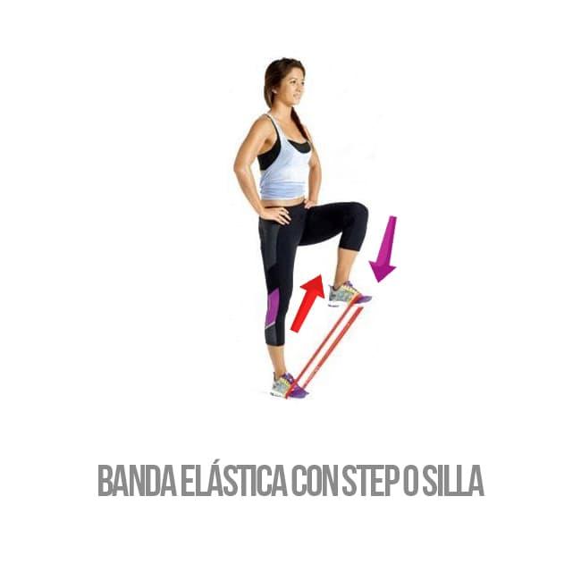 banda elástica fitness step