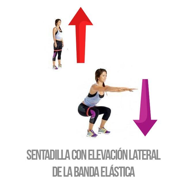 Banda elástica fitness ejercicios