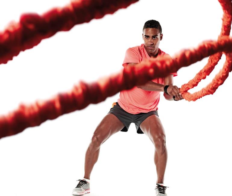 entrenamiento funcional ejercicios combat rope